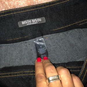 Bisou Bisou Jeans - NWOT- BISOU BiSOU Dark Flare Velcro Jeans